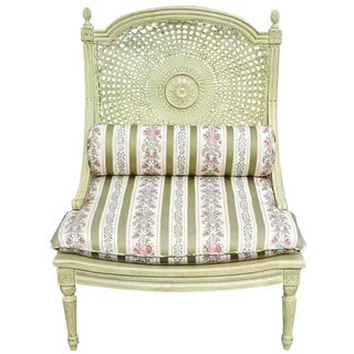 Vintage Green French Accent Chair