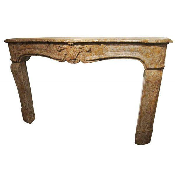 French Country Caramel Colored Stone Mantel - Image 4 of 5