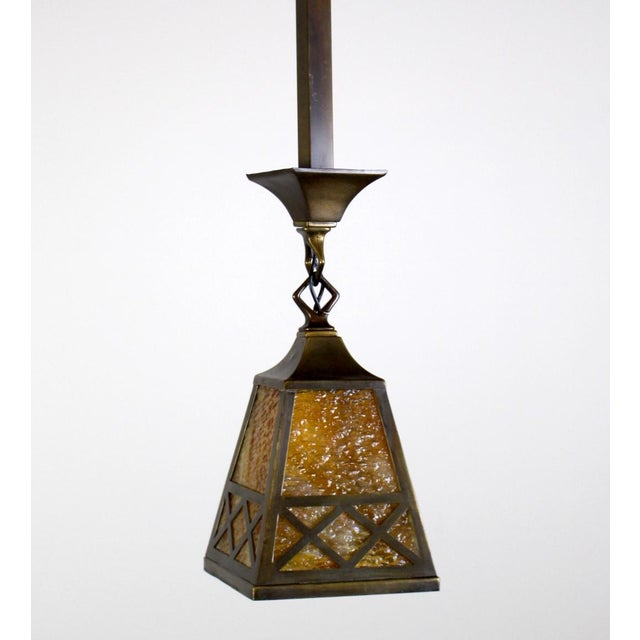 Arts & Crafts Style Pendant Fixture. - Image 5 of 7