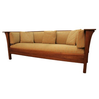 Mission Arts and Crafts Style Stickley Cherry Spindle Sofa