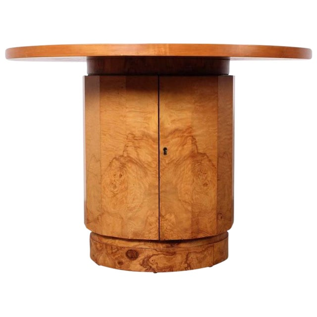 Burl Bar Cabinet / Table by Edward Wormley for Dunbar - Image 1 of 10