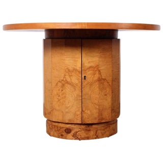 Burl Bar Cabinet / Table by Edward Wormley for Dunbar