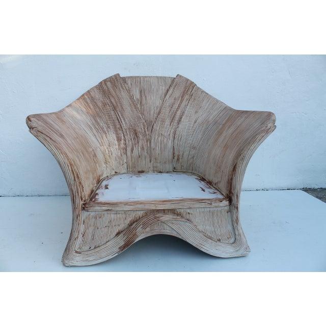 Gabriella Crespi Style Pencil Bamboo Club Chair - Image 3 of 11