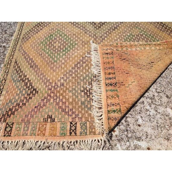 Vintage Turkish Kilim Rug - 5′4″ × 10′4″ - Image 6 of 6