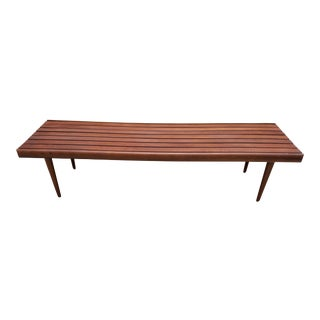 Mid-Century Slat Bench Coffee Table