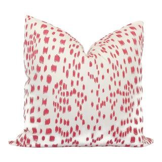 """Brunschwig Fils Les Touches Pink and White Decorative Pillow Cover - 20"""" x 20"""""""