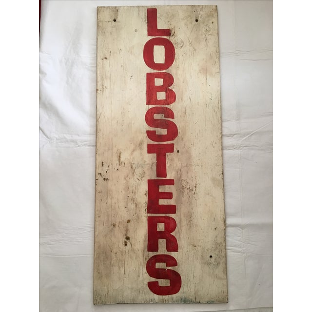 Painted Maine Lobster Stand Sign - Image 5 of 5