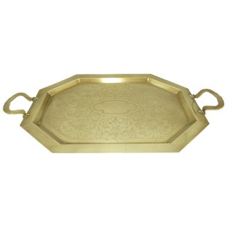 Antique Solid Brass Serving Tray