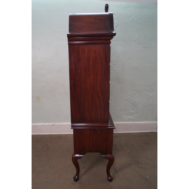 Henkel Harris Solid Mahogany Queen Anne Highboy Chest - Image 3 of 10