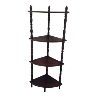 Four Tier Corner Etagere