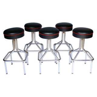 Tubular Steel Bar Stools - Set of 5