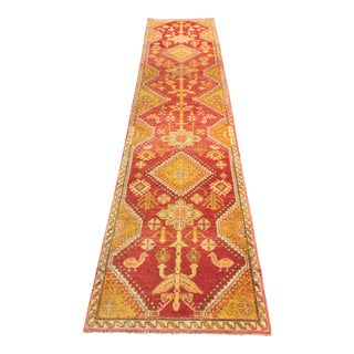 "Vintage Turkish Oushak Runner - 2'8""x12'3"