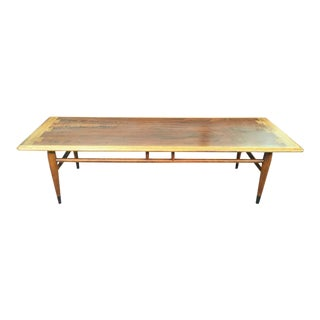 "Lane ""Dovetail"" Inlaid Coffee Table"