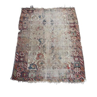 "Antique Persian Kazak Rug - 3'5""x4'4"""