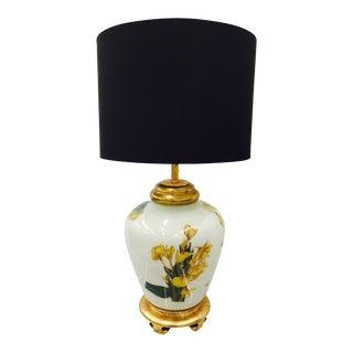 Floral Lamp on Gilded Base