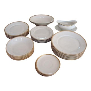 Bavaria Gold & White Dishes- 30 Pieces