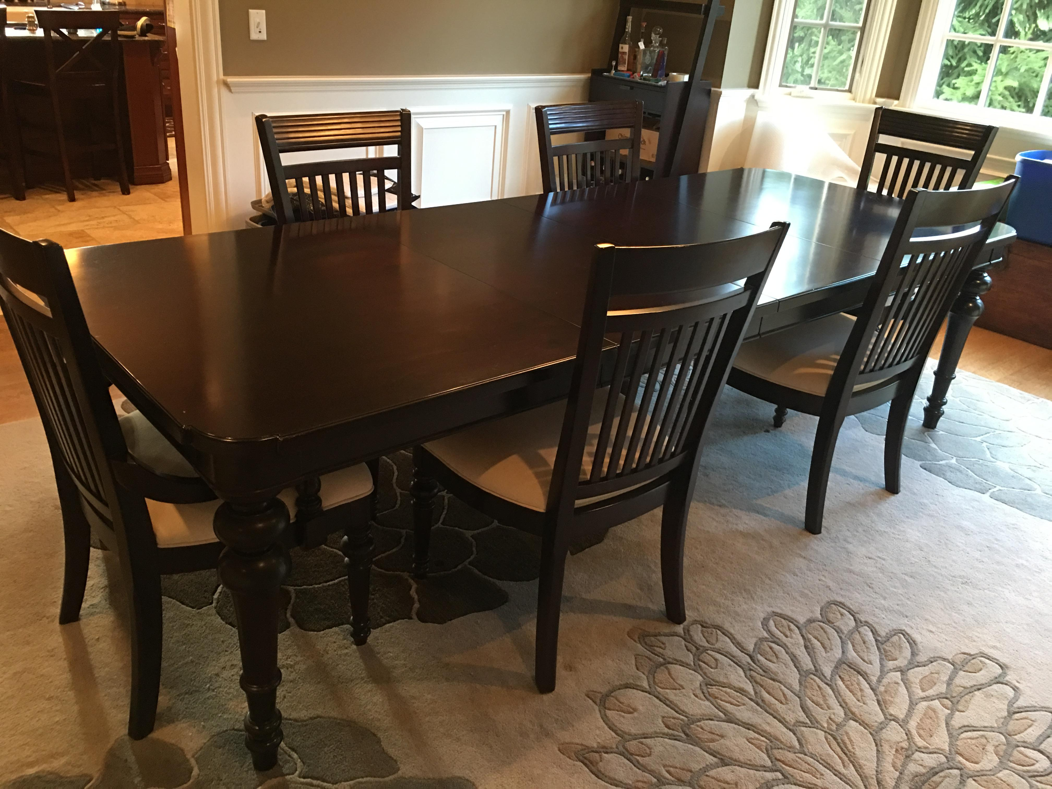 Black Mahogany Dining Leaf Table amp 6 Chairs Set Chairish : black mahogany dining leaf table and 6 chairs set 5259aspectfitampwidth640ampheight640 from www.chairish.com size 640 x 640 jpeg 56kB