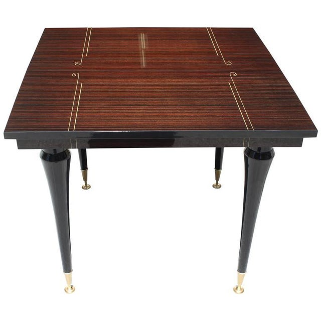 Art Deco Foyer Table : French art deco exotic macassar ebony foyer table chairish