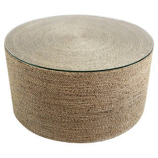 Round Seagrass Rope Coffee Table