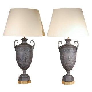 Pair of Turn-of-the-Century Basalt Lamps