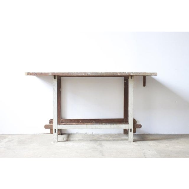 White Painted Wooden Work Table - Image 2 of 4