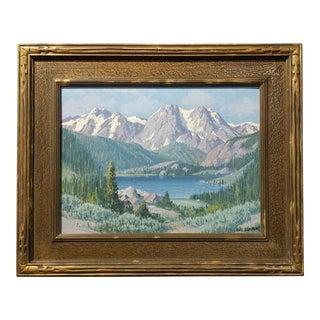Carl Sammon - June Lake, High Sierra -Beatiiful California mountain Landscape- Oil painting