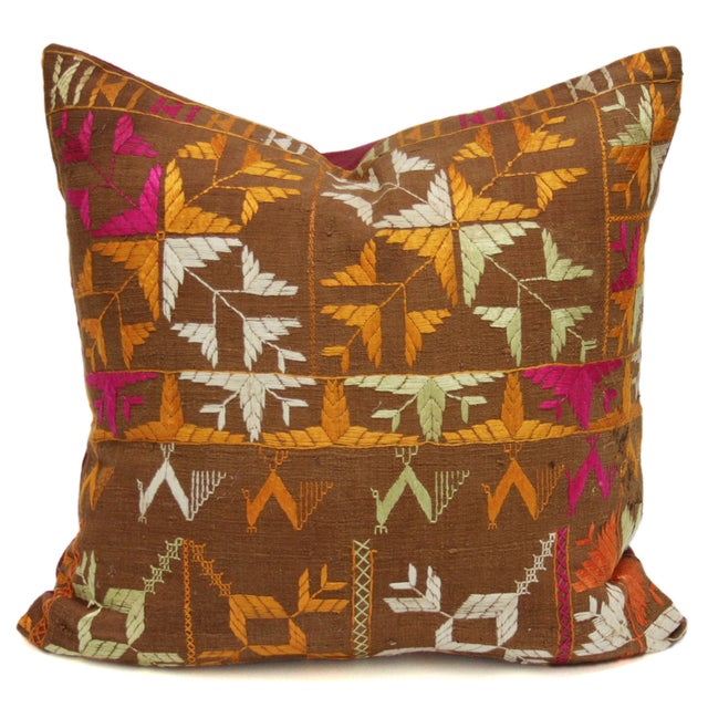 Tribal Bagh Phulkari Pillow - Image 1 of 3
