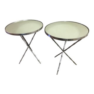 Emerson Bentley Bamboo Chairside Tables - A Pair