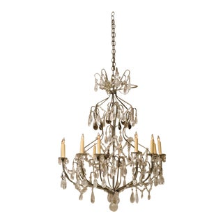 Rock Crystal Chandelier with Rare Amythest Rock Crystals