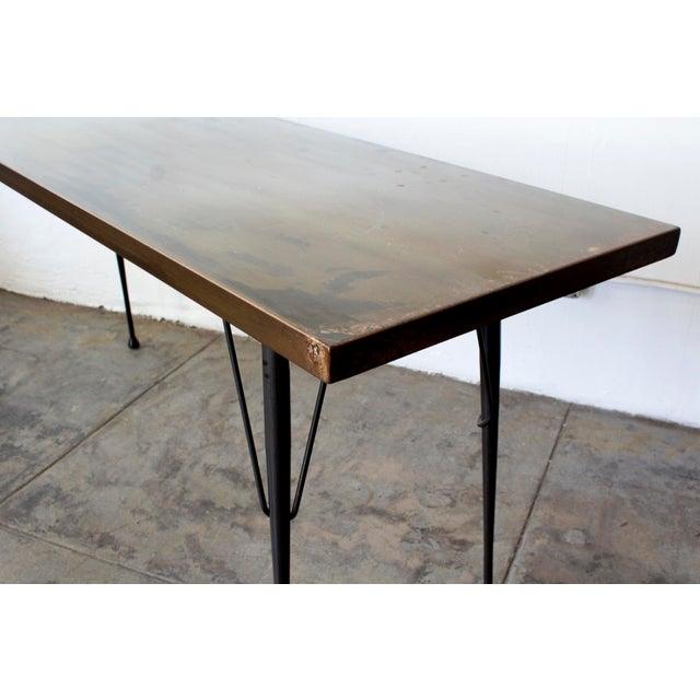 Mid-Century Patina Console Table, Rehab Original - Image 4 of 6