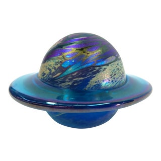 1991 Saturn Art Glass Paperweight