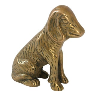 Vintage Brass Dog Figure