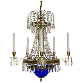 Swedish Chandelier -Karl Johan Style 5-Arm Crystal