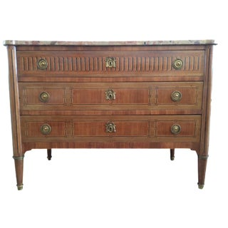 French 18th C. Marble Top Louis XVI Commode