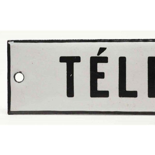 Enamel Telephone Sign - Image 2 of 3