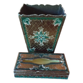Florentine Vintage Wastebasket & Tissue Box Set