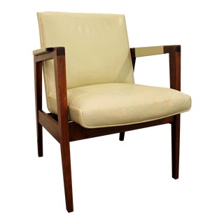 Gunlocke Mid-Century Danish Modern Walnut Lounge Chair