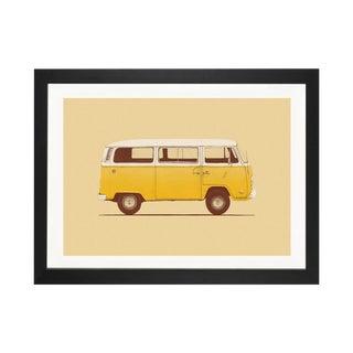 Florent Bodart 'Yellow Van' Framed Print