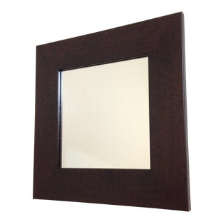 Modern Walnut Square Wall Mirror