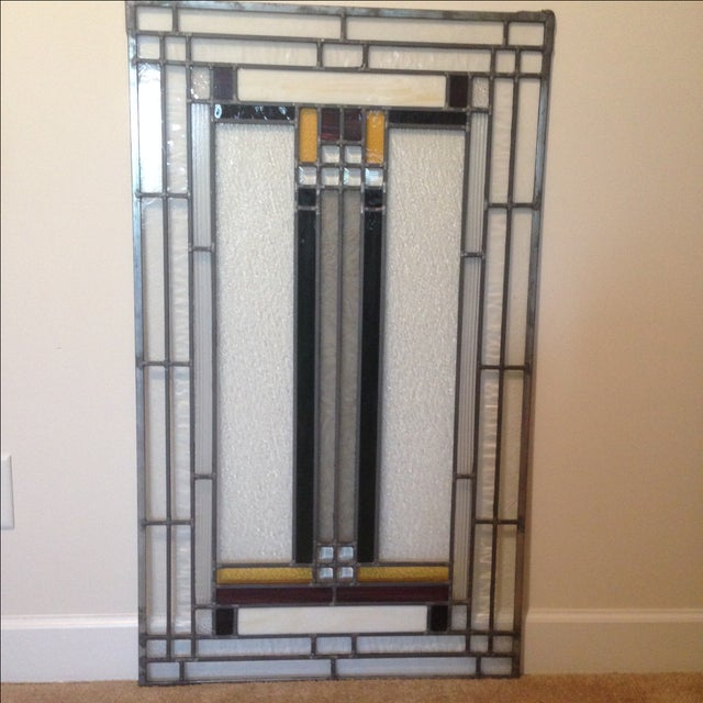 Craftsman Style Stained Glass Panel - Image 2 of 10
