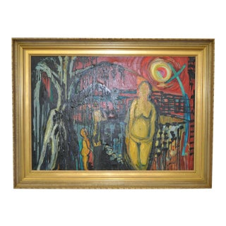 Figural Abstract Oil Painting