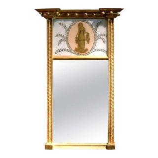 Charming Federal Giltwood Trumeau Mirror