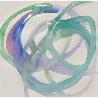 'Aquanet' Original Abstract Watercolor Painting