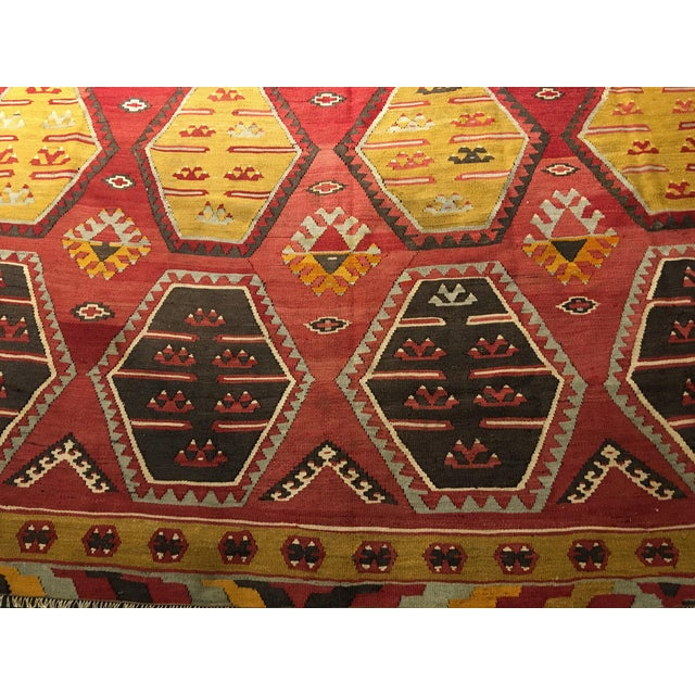 "Bellwether Rugs Vintage Turkish Kilim Rug - 8'8"" x 11'2"" - Image 3 of 9"