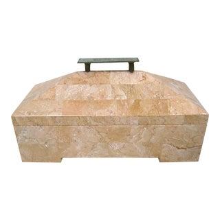 Mid-Century Modern Tessellated Marble Box