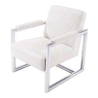 Blink Home Quilted Velvet Armchair