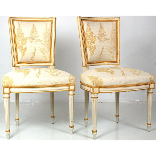 Cream & Gilt Accent Chairs by Baker - A Pair - Image 2 of 11