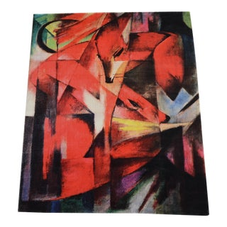 "Franz Marc ""Foxes"" Inspired Area Rug - 4′10″ x 5′9″"