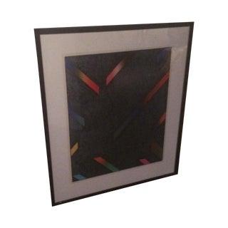 Framed Modern Geometric Lithograph