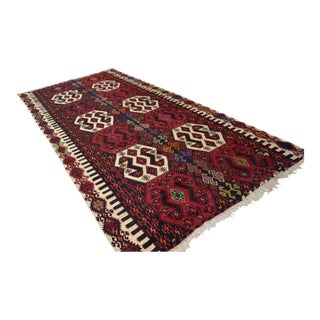 Antique Turkish Kilim Hand Woven Rug - 6′8″ × 14′5″